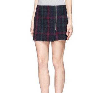 Elizabeth & James Keller Plaid Quilted Mini Skirt